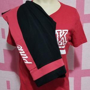 🌹 Victoria Secret Red Tee & Legging Set 🌹
